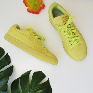 Puma Classic Lime Green Lime Green Sneakers 8